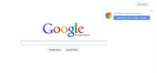 Screenshot von google.de