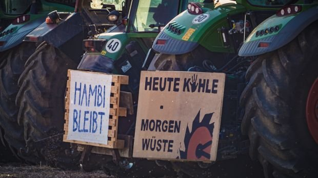 Protest am Hambacher Forst