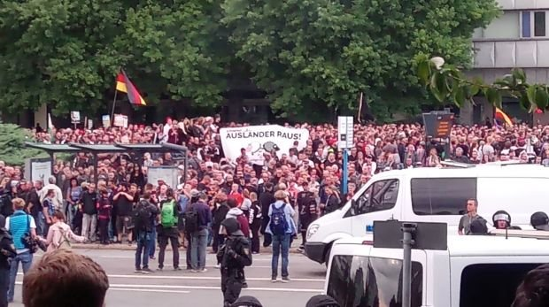 Pro Chemnitz Demonstration am 27.08.2018