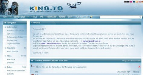 Screenshot kino.to