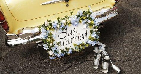 Just zum ausdrucken married hochzeitsauto Just Married