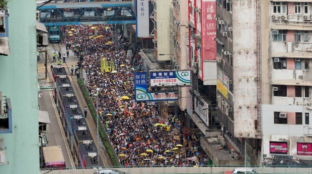 Demonstration in Hongkong am 29. April 2019