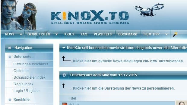 Screenshot: kinox.to