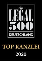 2020_The Legal 500 Deutschland_top Kanzlei