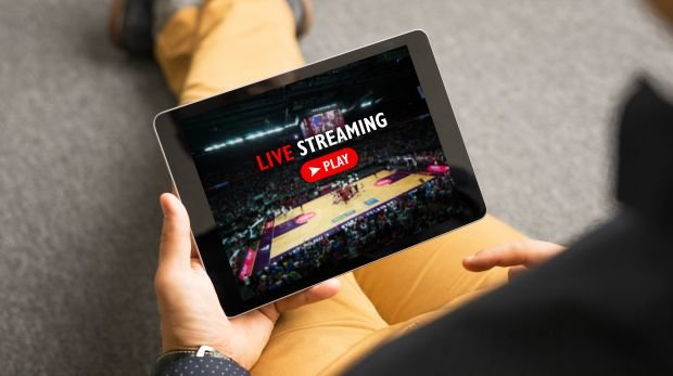 Streaming auf Tablet (Symbol)